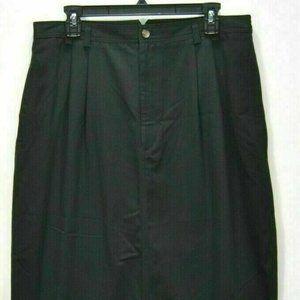 Baxter & Wells Women Skirt 18 Black Denim Straight